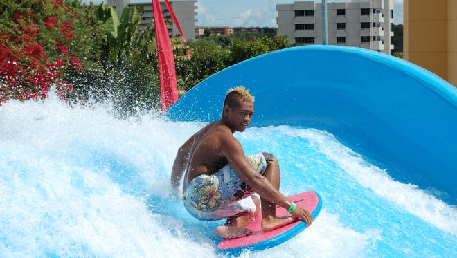 Tarza Water Park in Tumon offers slides and more. Try out the Flowrider surfing machine.