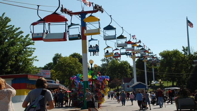 The Sky Glider at the Iowa State Fair.