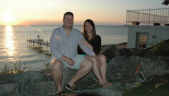 Dan Boardman proposed to Jillian Faaborg, also from Cedar Rapids, the morning of Aug. 20 using the Aug. 19 edition of the Door County Advocate.