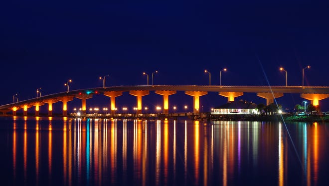 "The A. Max Brewer Bridge over the Indian River in Titusville is seen as a compelling landmark of the city, a ""geo-market"" that is a source of local pride."