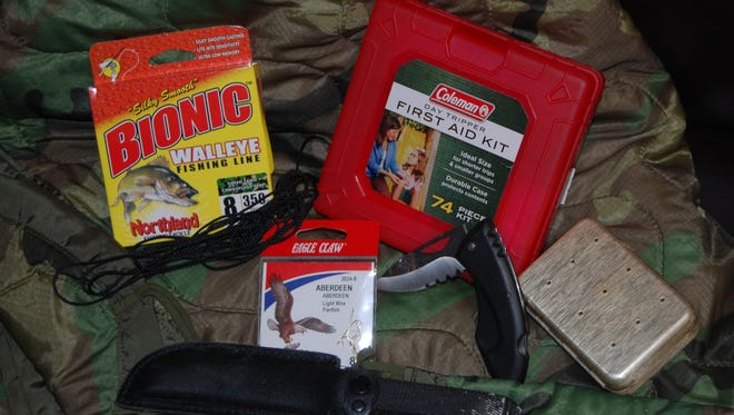 Which 10 items would you carry in a backpack to ensure your survival in the wilderness?