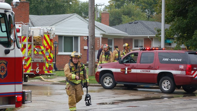 Livonia firefighters responded to a fire Sunday afternoon at a home in the 8900 block of Farmington. Fire officials say the fire is suspicious in nature.