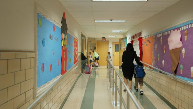Students head into class at South Mountain School.