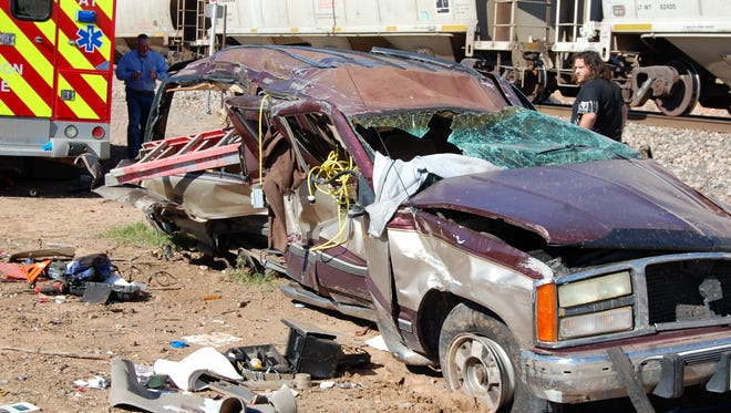 A collision between a Chevy Suburban and a freight train east of Vernon Wednesday killed the driver of the Chevy