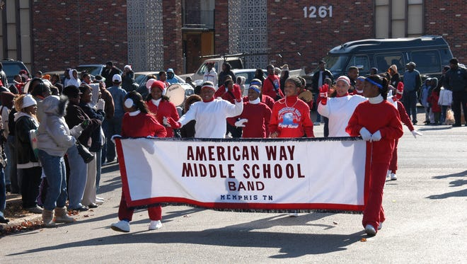 The American Way Middle School's marching band marched on Dec. 9, 2006.