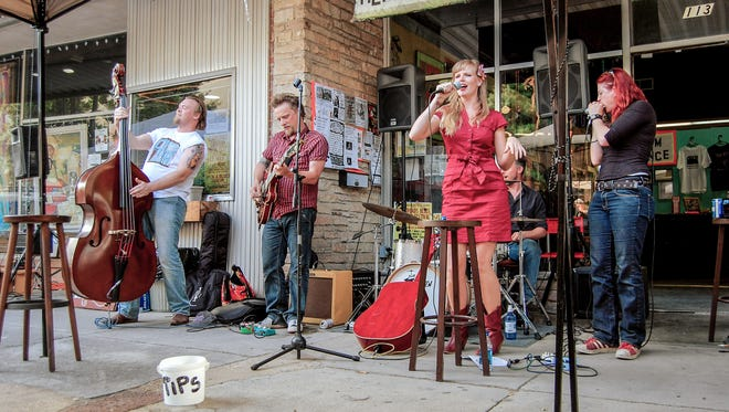 Performers set up on 14 stages during Clarksdale's Juke Joint Festival.