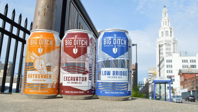 The three flagship canned offerings from Buffalo's Big Ditch Brewing.