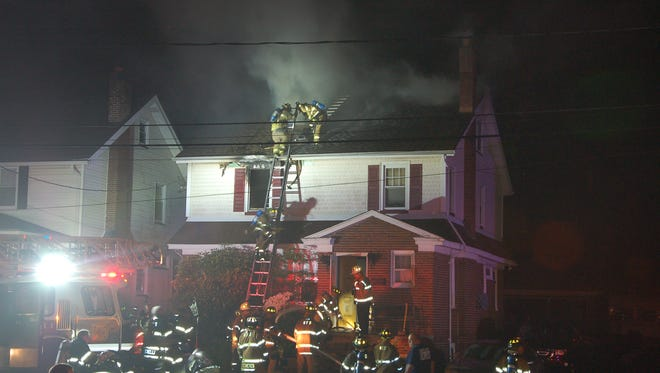 Firefighters battled the blaze for about three hours.