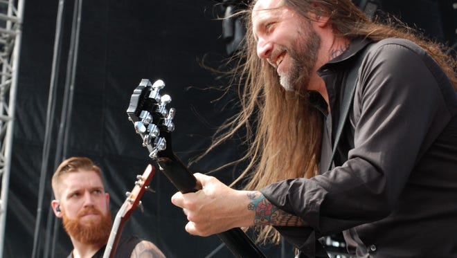 In Flames at Fort Rock 2017.