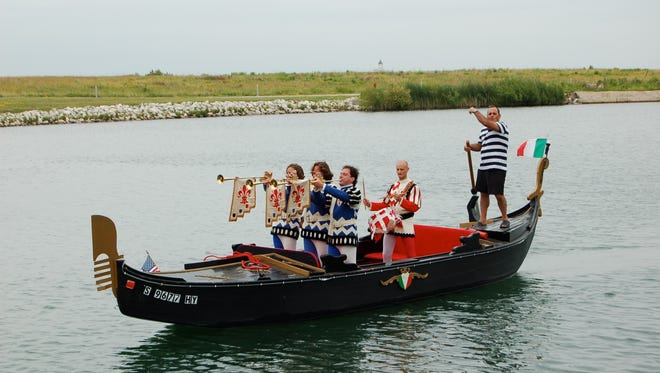 Festa Italiana attendees can take a gondola ride in Lake Michigan.