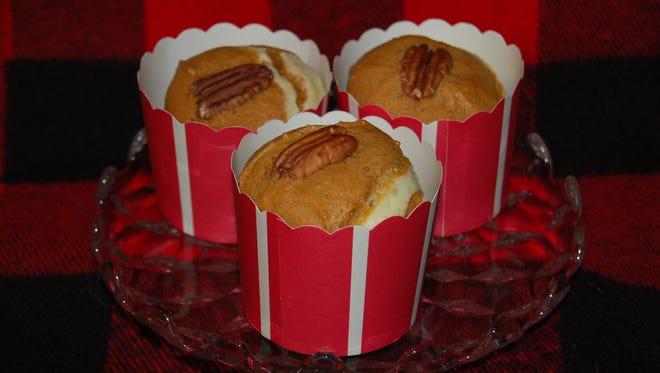 Cream Cheese-Filled Pumpkin Muffins