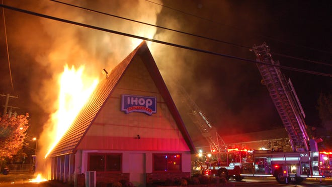 The IHOP in Fair Lawn caught fire early Wednesday morning, prompting the shutdown of Broadway.