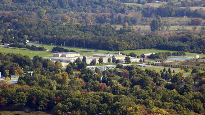 An aerial photo of the Pine Plains Central School District.