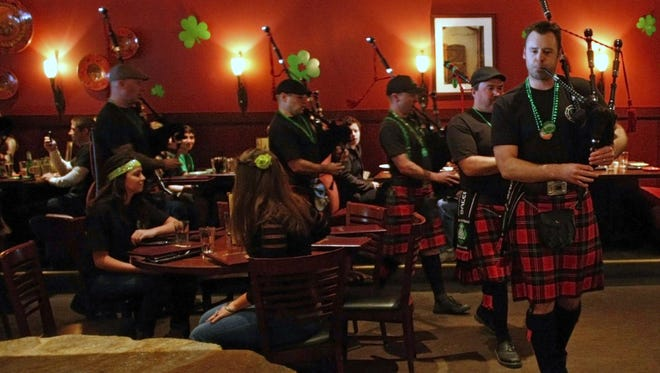 The Salem Firefighters Pipes and Drums will perform around the area at a number of St. Patrick's celebrations.