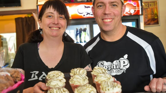 Jennifer  Melancon of Sophi P Cakes is being recognized for her leadership as a female business owner. She owns the cupcake bakery with her husband, Dustin, in Lafayette, Louisiana.