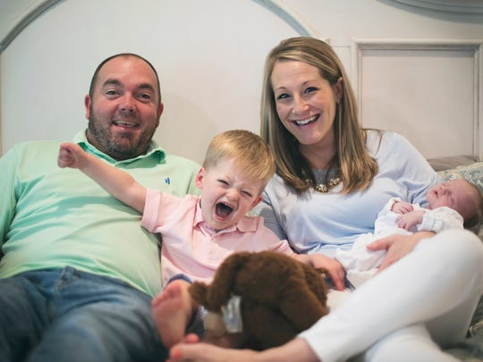 The Plaxco family – Catie and Chris with children Knox,
