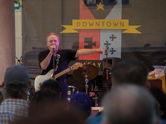 Texas blues guitar legend Jimmie Vaughan, who performed
