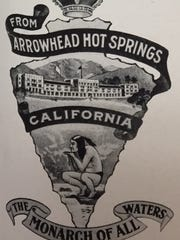 One of the early logos that appeared on Arrowhead bottled