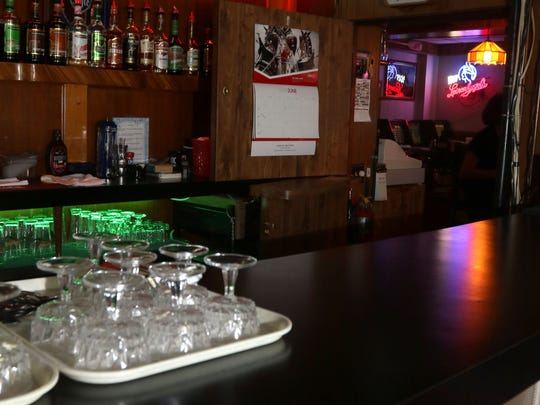 One of the bars in the interior of the Buck-A-Neer