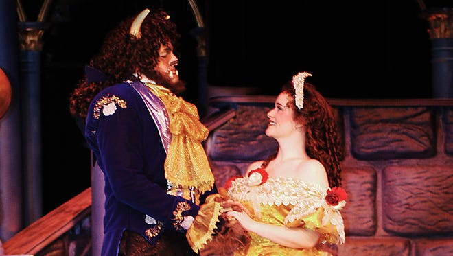 """Beef & Boards Dinner Theatre's production of Disney's """"Beauty and the Beast,"""" running May 19-July 10, 2016."""