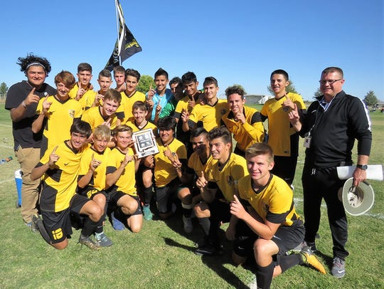 The Alamogordo boys' soccer team captured the District