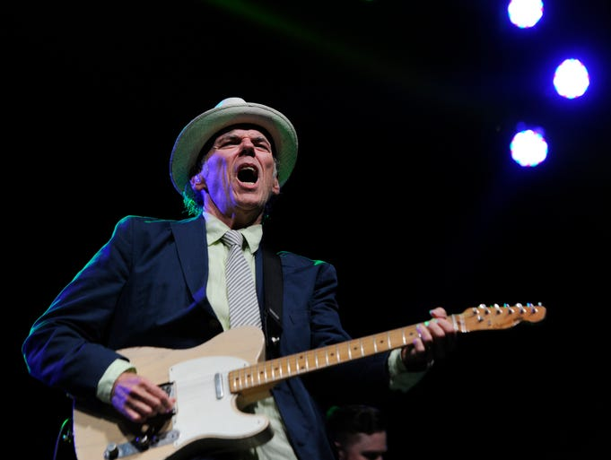 John Hiatt performs at the Cross-County Lines festival at The Park at Harlinsdale Farm.