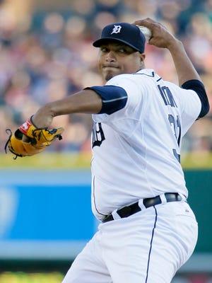 Detroit Tigers pitcher Alfredo Simon.
