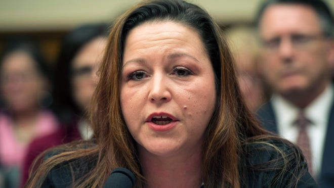 In this Feb. 3, 2016, file photo, Flint resident LeeAnne Walters testifies on Capitol Hill in Washington.
