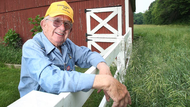 Mauri Williamson at his home in West Lafayette in 2014. Williamson was a well-known figure in Indiana agricultural for many years. He led Purdue's Ag Alumni Association for nearly 40 years, helped found the National Ag Alumni Development Association and started the Pioneer Village at the Indiana State Fair.