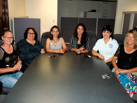 Bill Armendariz - Headlight Photo   Volunteers and board members of the Amigas del Healing House are, from left, Brandi Gibbs, Olvia Paez, Martha Griffin, Elizabeth Almaraz, Rosie Ortiz and Page Latham. The Amigas del Healing House is a support group for victims and survivors of domestic violence that meet at 6 p.m. on Tuesdays at the Deming Literacy Center, 2301 S. Tin St. Confidentiality is the structure for the meetings.