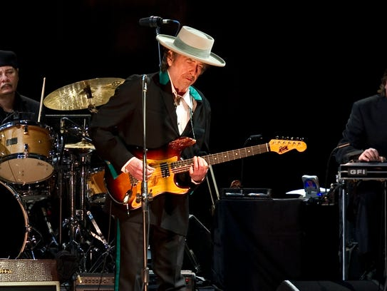 Bob Dylan performs in China on April 8, 2011.