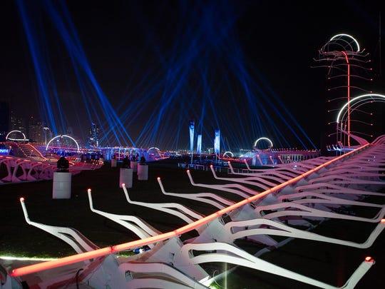 The course at the World Drone Prix 2016 in Dubai.
