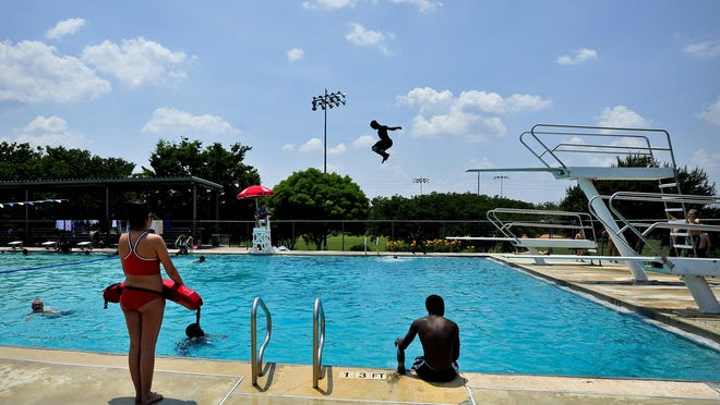 The Bishop Park Pool in Athens photographed in 2012. While Athens-Clarke Leisure services has been forced to cancel July summer camps, pools and splash pads are scheduled to open July 4.