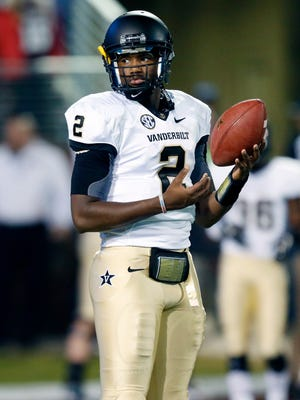 Vanderbilt quarterback Johnny McCrary started the last five games of the 2014 season.