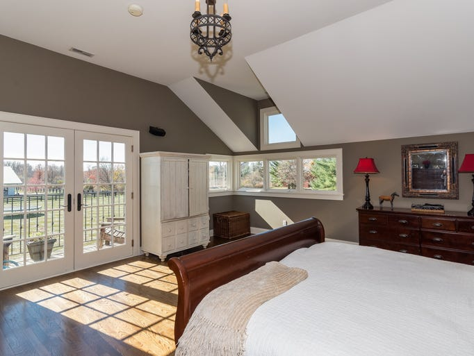 Hot property zionsville ranch is equestrian s dream home Master bedroom with private garden