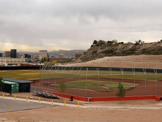 El Paso High School baseball field.