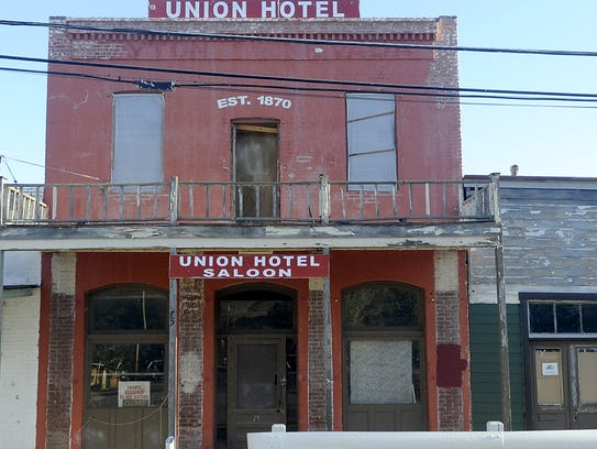 Marker #186, Union Hotel and Post Office