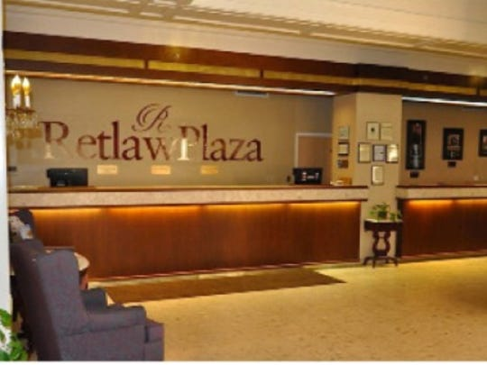 A photo provided by new Retlaw Plaza Hotel owners Frantz Community Investors of the hotel's front desk as it is now. The firm presented its plans for the hotel to the Fond du Lac City Council during a meeting Sept. 28, 2016.