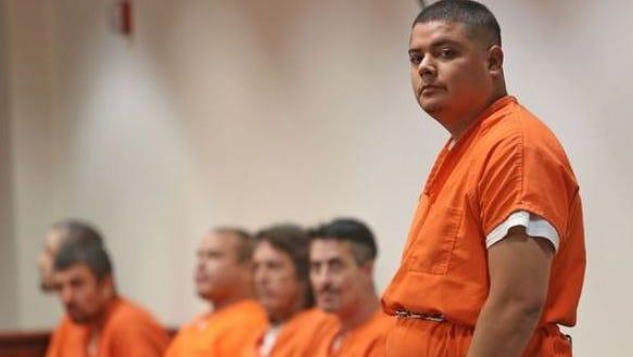 Miguel Ramirez makes a court appearance on Aug. 11, 2013.
