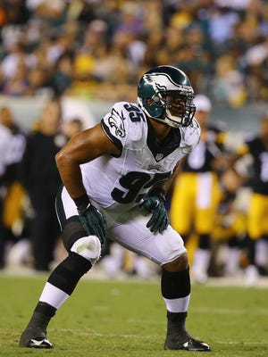 The Eagles' Mychal Kendricks squares off against the Pittsburgh Steelers during their preseason game Aug. 21 at Lincoln Financial Field in Philadelphia.