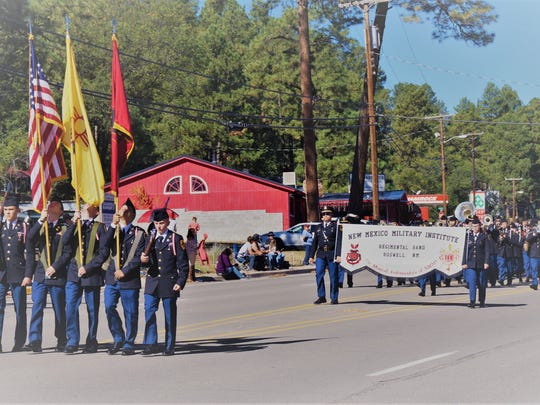 The New Mexico Military Institute from Roswell in the AspenFest parade Saturday in Ruidoso.