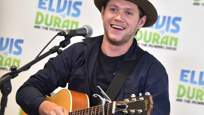 Niall Horan visits 'The Elvis Duran Z100 Morning Show' on May 30, 2017, in New York.
