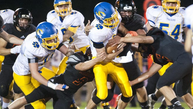 Mishicot Indians hosts a game against Howards Grove Tigers on Friday, Sept. 25 in Mishicot. The Indians lost to the Tigers 15-12.
