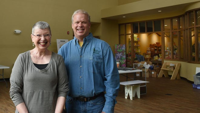 The Ridges Sanctuary executive director Steve Leonard and assistant director Judy Drew plan to open the new Cook-Albert Fuller Nature Center today.