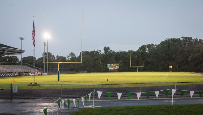 Area storms have postponed Central and Yorktown's football game until Saturday at 11:30 a.m. Fans and players were left waiting until thirty minutes after the games expected start for the postponement.