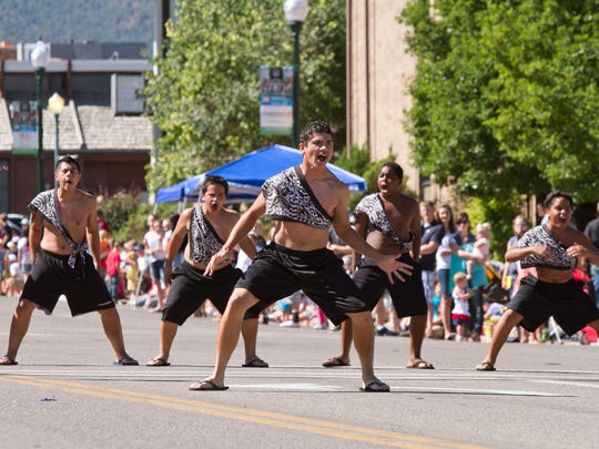 Dancers participate in Cedar City's Pioneer Day parade in 2013. This year's parade will begin at 10 a.m. Saturday on Main Street.