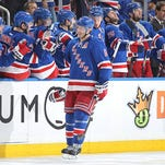 Dan Girardi (5) is expected to be welcomed back to the lineup Monday after missing five games with a knee injury.