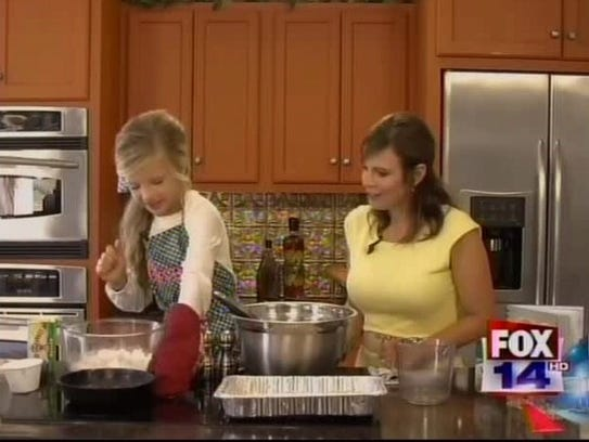 Cooking on her show with Ashley Doughty