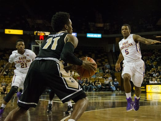 East Carolina beats UCF men's basketball 71-66.