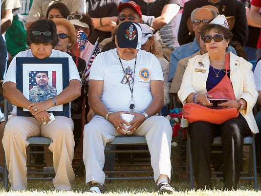 Gold Star families remember the fallen during Monday's Memorial Day ceremony at Fort Bliss National Cemetery.